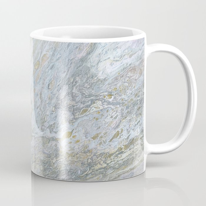 Gold, White, Grey, and Pink Coffee Mug
