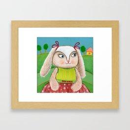 Ballerina Bunny Girl  Framed Art Print