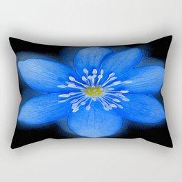 Blue Powder Rectangular Pillow