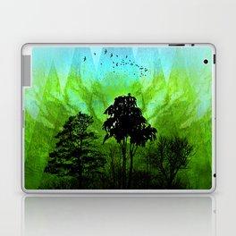 TREES under MAGIC MOUNTAINS V-HF-GREEN Laptop & iPad Skin