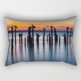 Sunset Silhouettes Florida Rectangular Pillow