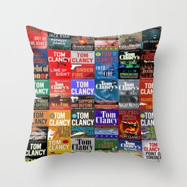 Tom Clancy Books Throw Pillow