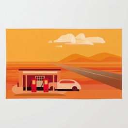 Tonapah Gas Station Rug