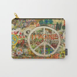 Peace Sign - Love - Graffiti Carry-All Pouch