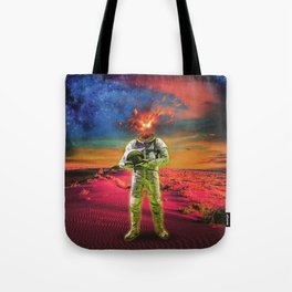Fire Face Tote Bag