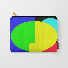 GETTING IN SHAPE - FUN SHAPED GEOMETRIC MULTI COLOURED DESIGN Carry-All Pouch