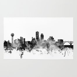 Knoxville Tennessee Skyline Rug
