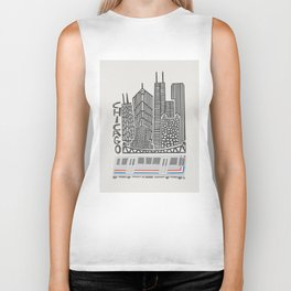 Chicago Cityscape Biker Tank