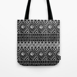 African Mud Cloth // Black Tote Bag