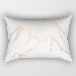 Adventure White Gold Mountains Rectangular Pillow