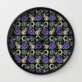 Retro Bubbles #1 Wall Clock