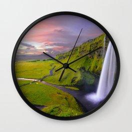 Seljalandsfoss Waterfall, Iceland Wall Clock