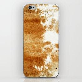 Golden Brown Cow Hide iPhone Skin