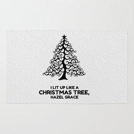 I lit up like a christmas tree, hazel grace TFIOS JOHN GREEN Rug