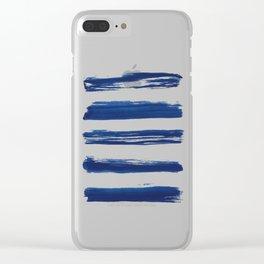 Indigo Brush Strokes | No. 2 Clear iPhone Case