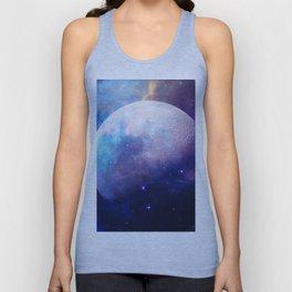 Galaxy Moon Space Unisex Tank Top