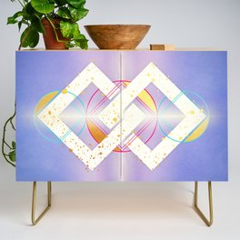 Linked Lilac Diamonds :: Floating Geometry Credenza