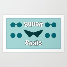 Squirtle Squad Goals Art Print
