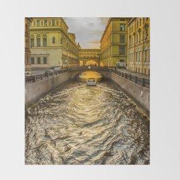 Swan Canal in St. Petersburg Throw Blanket