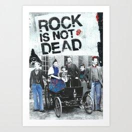 Rock is not dead Art Print