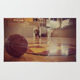 Vintage Basketball Gym Rug