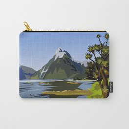 Mitre Peak, MIlford Sound, New Zealand Carry-All Pouch