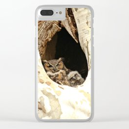 Lean on me Clear iPhone Case