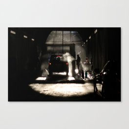 Car wash in style Canvas Print