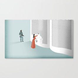 Banned From Literacy Canvas Print
