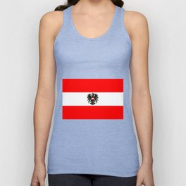 Austrian Flag and Coat of Arms Unisex Tank Top