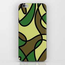 Camo Curves - Abstract, camouflage coloured pattern iPhone Skin