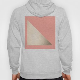 Simply Shadow in White Gold Sands on Salmon Pink Hoody