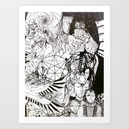 TRIBES IN THE VOID (ONE WORLD) Art Print