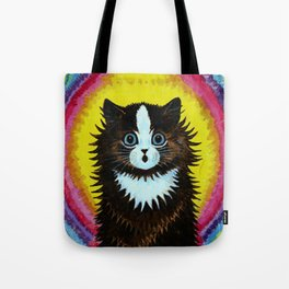 "Louis Wain's Cats ""Psychedelic Rainbow Cat"" Tote Bag"