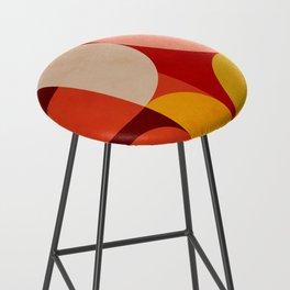 shapes of red mid century art Bar Stool