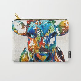 Colorful Cow Art - Mootown - By Sharon Cummings Carry-All Pouch