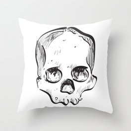 Clumsy Skull Throw Pillow