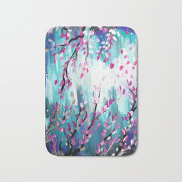 Japanese Flowers Bath Mat