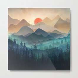 Wilderness Becomes Alive at Night Metal Print