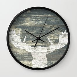 Rustic White Moose Silhouette A424a Wall Clock