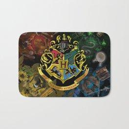 Hogwarts Logo Houses Bath Mat