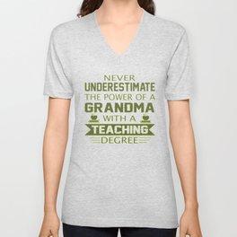 Grandma Teacher Unisex V-Neck