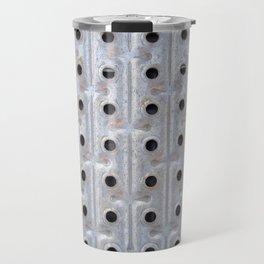 Background. Metallic grid. Urban and grunge. Travel Mug