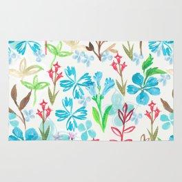 Azure flower garden Rug