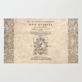 Cervantes. Don Quijote, 1605. Rug