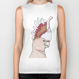 Major Mitchell Illustrated Geometric Bird Biker Tank