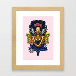 Electric Lady Framed Art Print