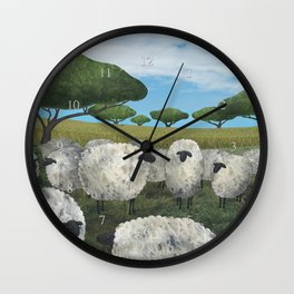 greener pasture Wall Clock