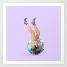 Disco Legs Art Print