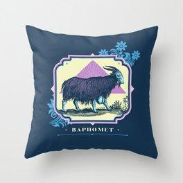 Pastel Baphomet Goat Throw Pillow